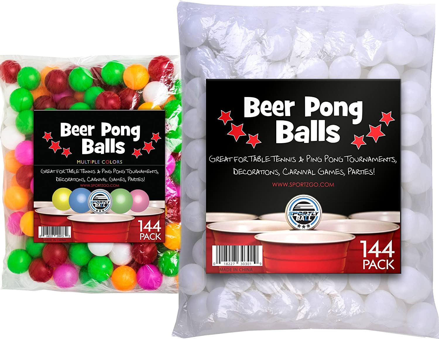 Sportly Bière Pong Balles, 38 mm, lot de 144 Sportly® Beer Balls