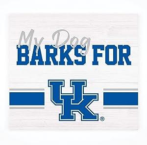 P. Graham Dunn My Dog Barks for University of Kentucky Wildcats NCAA Logo 10.5 x 10 Birch Wood Pallet Sign