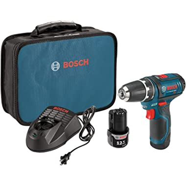Bosch Power Tools Drill Kit - PS31-2A - 12V, 3/8 , Two Speed Driver, Cordless Drill Set - Includes Two Lithium Ion Batteries, 12V Charger, Screwdriver Bits & Soft Carrying Bag