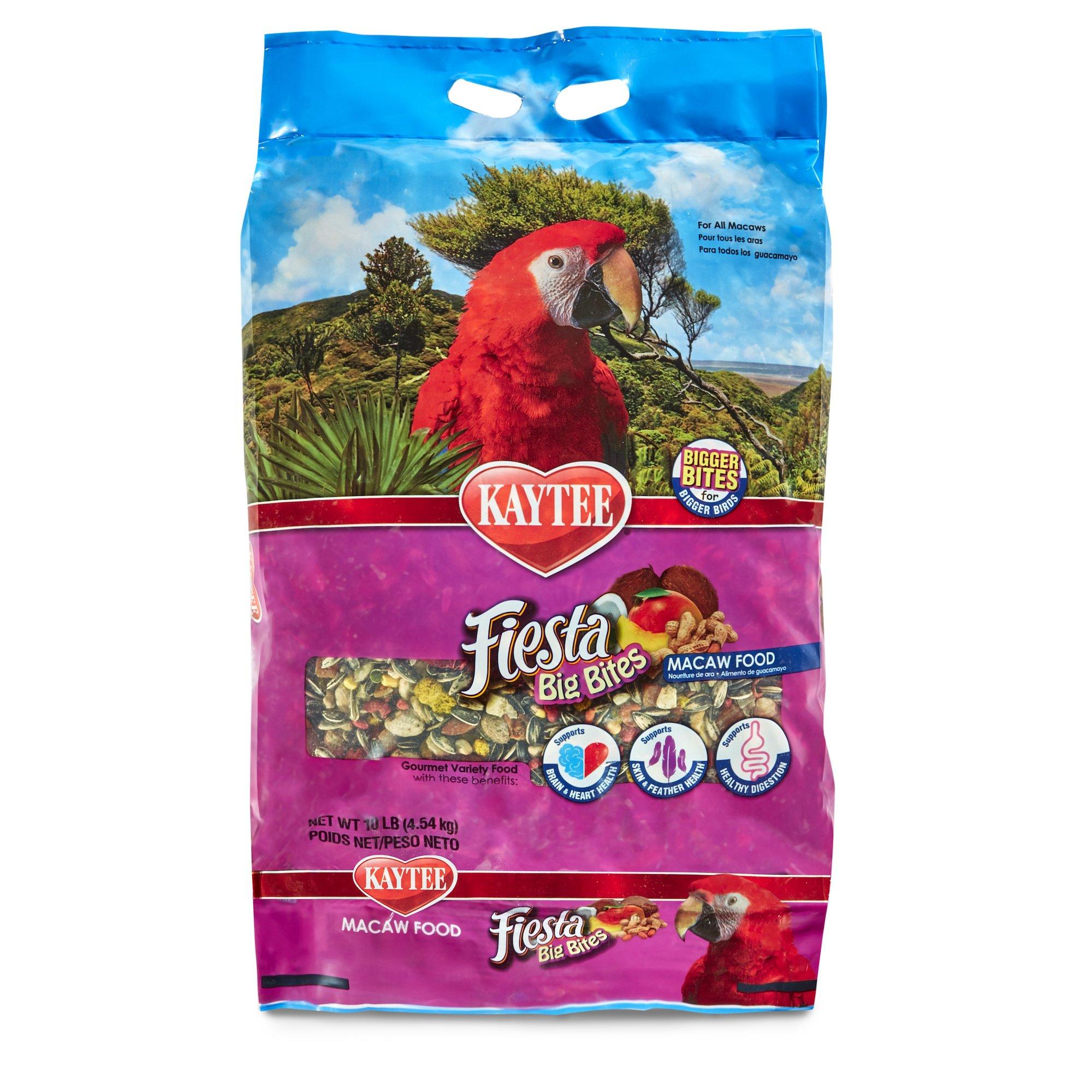 Kaytee Fiesta Big Bites Macaw Food, 10-Lb Bag by Kaytee