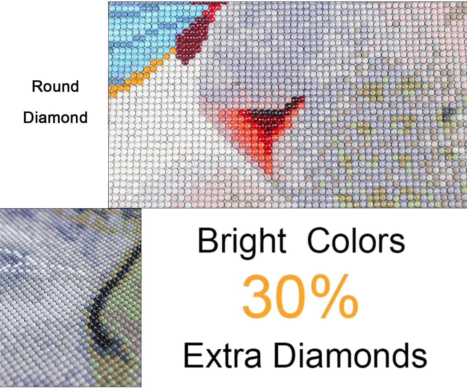 DIY 5D Full Drill Embroidery Art Craft Crystal Diamond Painting Kit Fancy Fang Cat Butterfly Diamond Painting for Home Wall Decor 11.8 X 15.7In Butterfly Cat