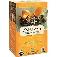 Numi - 10240 Organic Tea Orange Spice, 16 Count Box of Tea Bags, White Tea (Packaging May Vary)