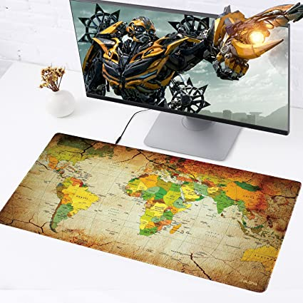 Jialong big mouse pad xxl 900x400mm water resistant world map desk jialong big mouse pad xxl 900x400mm water resistant world map desk mat office work mat gumiabroncs Images