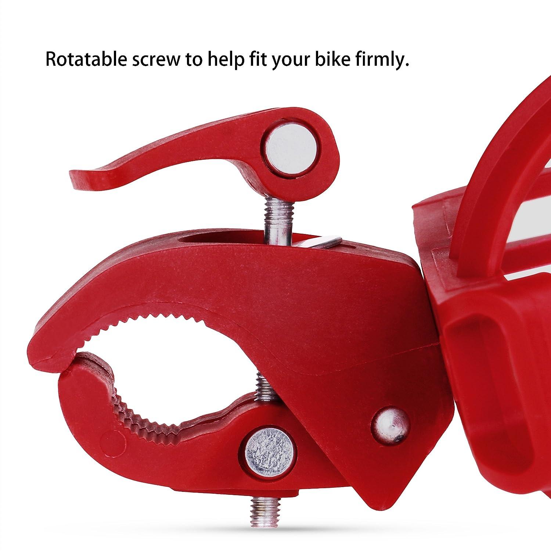 Lmeno ajustable-Bidón para bicicleta, diseño de botella de agua para bicicleta liberación rápida jaula titular ciclismo soporte MTB-Portabicicletas ligero ...