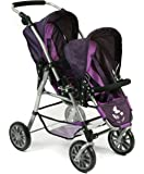Bayer Chic 2000–Tandem Pushchair (Twinny Twin Doll Pram for dolls up to Approx. 50cm, Choice of Colours