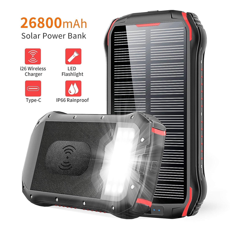 cargador solar portatil 26800mah, ORYTO