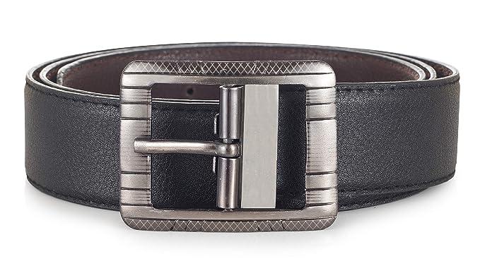 7f2dc8bca0d4f Trendtales Faux Leather belt for men(Size  Cut to fit  Color  Black ...