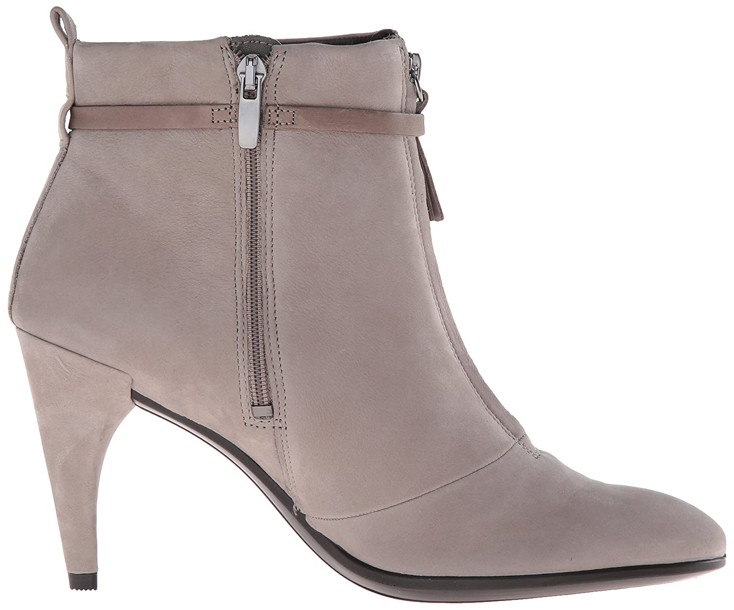 ECCO Women's Shape 75 Sleek Ankle Boot B01A9IUQEW 39 EU/8-8.5 M US|Warm Grey Nubuck