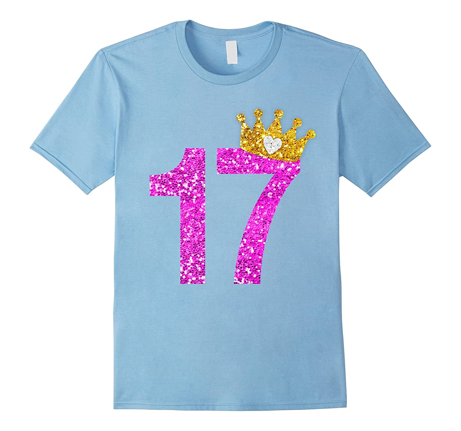 17th Birthday Girl Shirt Princess Crown Pink-PL