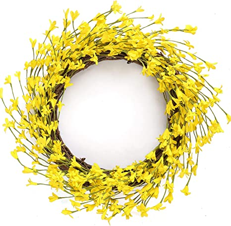 spring wreath yellow summer wreath for front door spring wreath for front door gift women forsythia wreath forsythia summer wreath