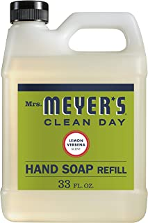 product image for Mrs. Meyer's Clean Day Liquid Hand Soap Refill, Lemon Verbena Scent, 33 ounce bottle