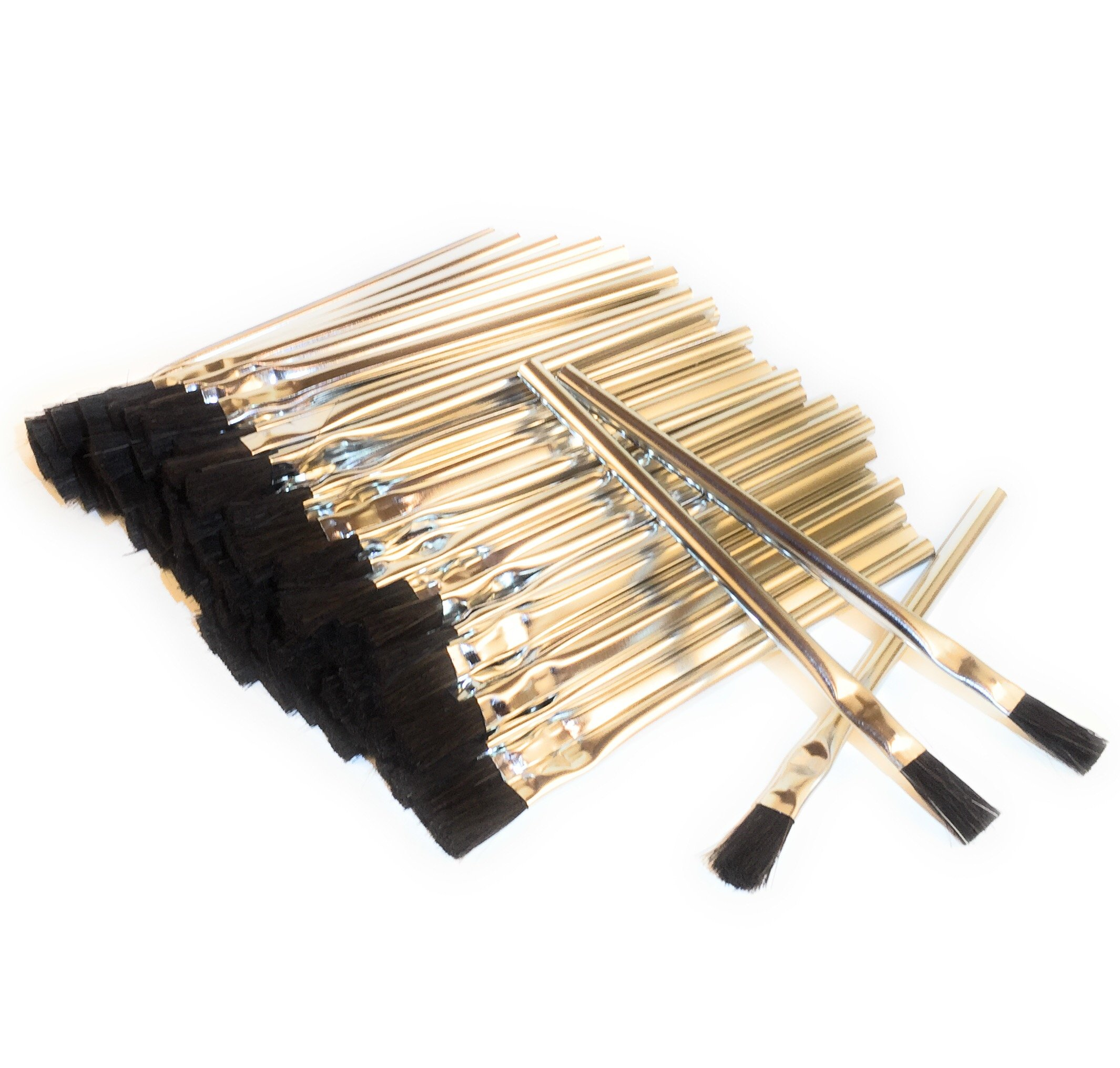 Acid Brushes (General-Purpose, Flux, Craft), 3/8'', Horsehair, 144 pieces, Made in USA by National Brush