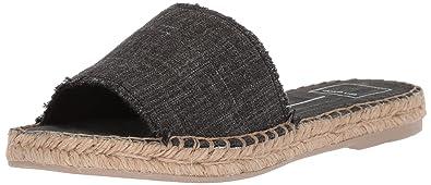 Dolce Vita Women's Bobbi Slide Sandal, Black Stripe Fabric, 6.5 M US
