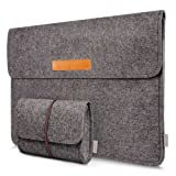 Inateck 13,3 Zoll Macbook Air/ Pro Retina/12,9 Zoll iPad Pro Laptop-Tasche Filz Sleeve Hülle Ultrabook Dunkelgrau