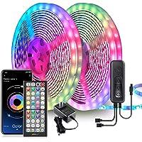 Nexillumi 65.6ft LED Lights for Bedroom Music Sync Color Changing RGB LED Strip Rope Lights 44-Key Remote, 5050 RGB LED…