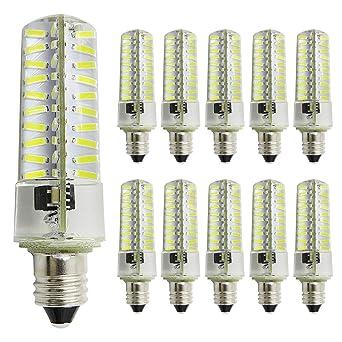 Pack de 10, E11 Bombilla LED regulable 220 V – 240 V, 3,
