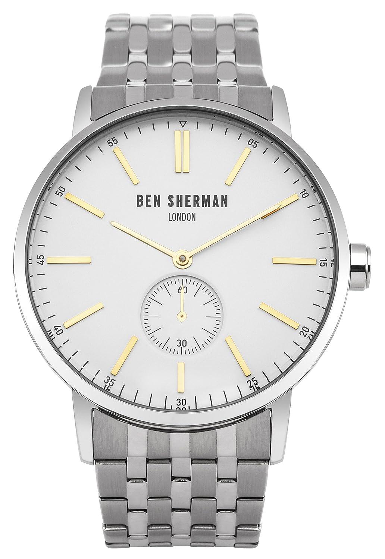 Ben Sherman Herren-Armbanduhr Big Portobello Social Analog Quarz Edelstahl WB032SM