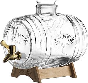 Kilner Barrel Drinks Dispenser 3.5 Litre, 32 x 17 x 19.600000000000001 cm, Transparent