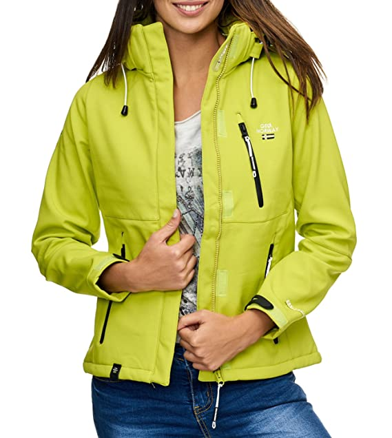 Geographical Norway tehouda Mujer Softshell Chaqueta Outdoor Übergangsjacke Parka