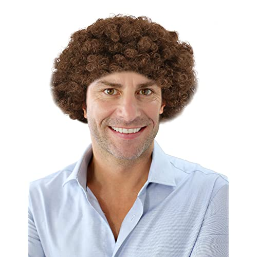 Costume Adventure Short Brown Afro Character Wig - One Size