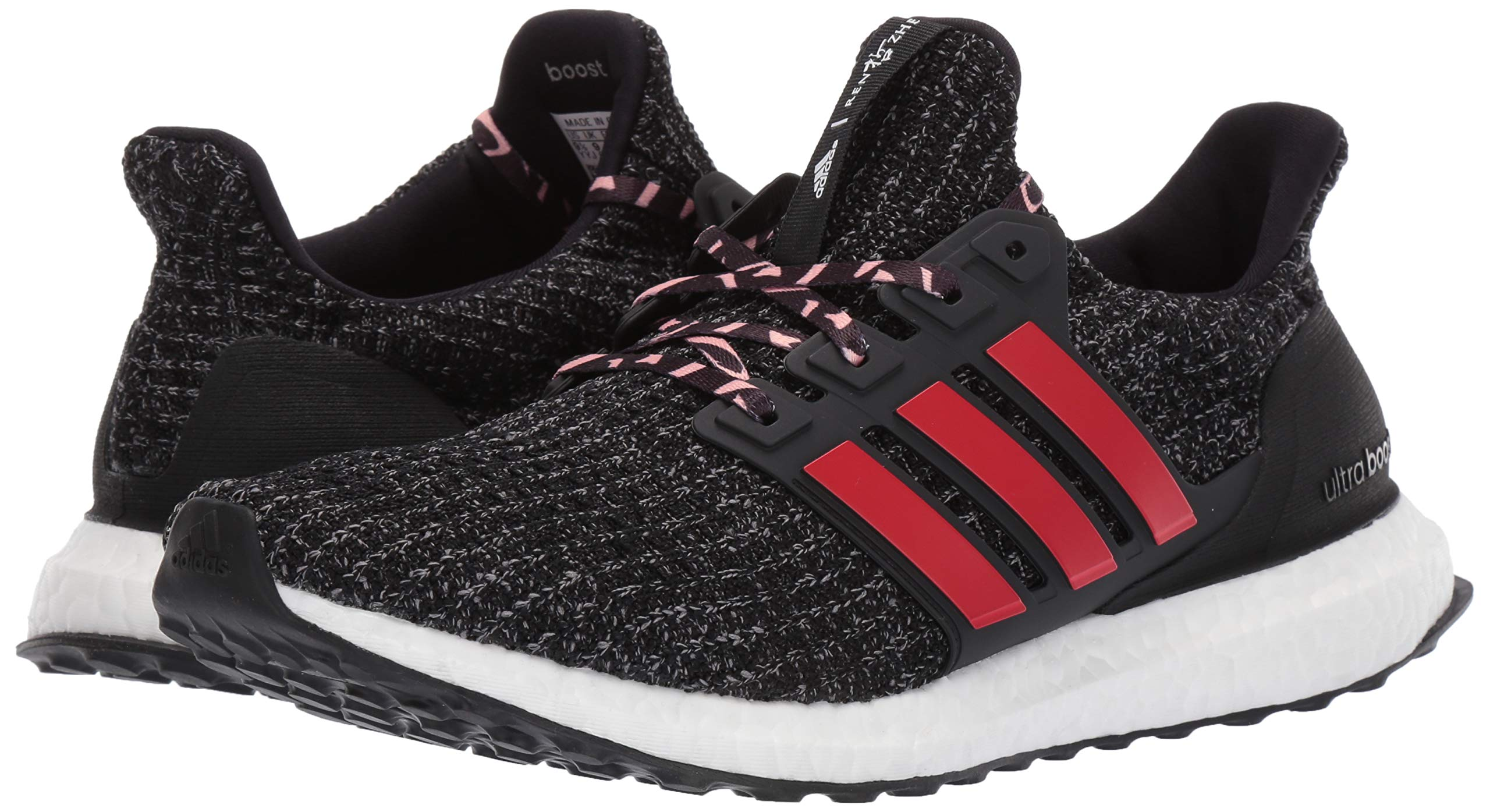 adidas Men's Ultraboost, Black/Scarlet/Grey 4 M US by adidas (Image #6)