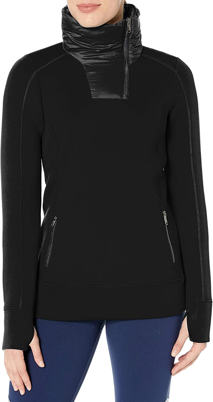 Spyder Women's Monde Zip T-Neck – Pullover Long Sleeve Active Shirt