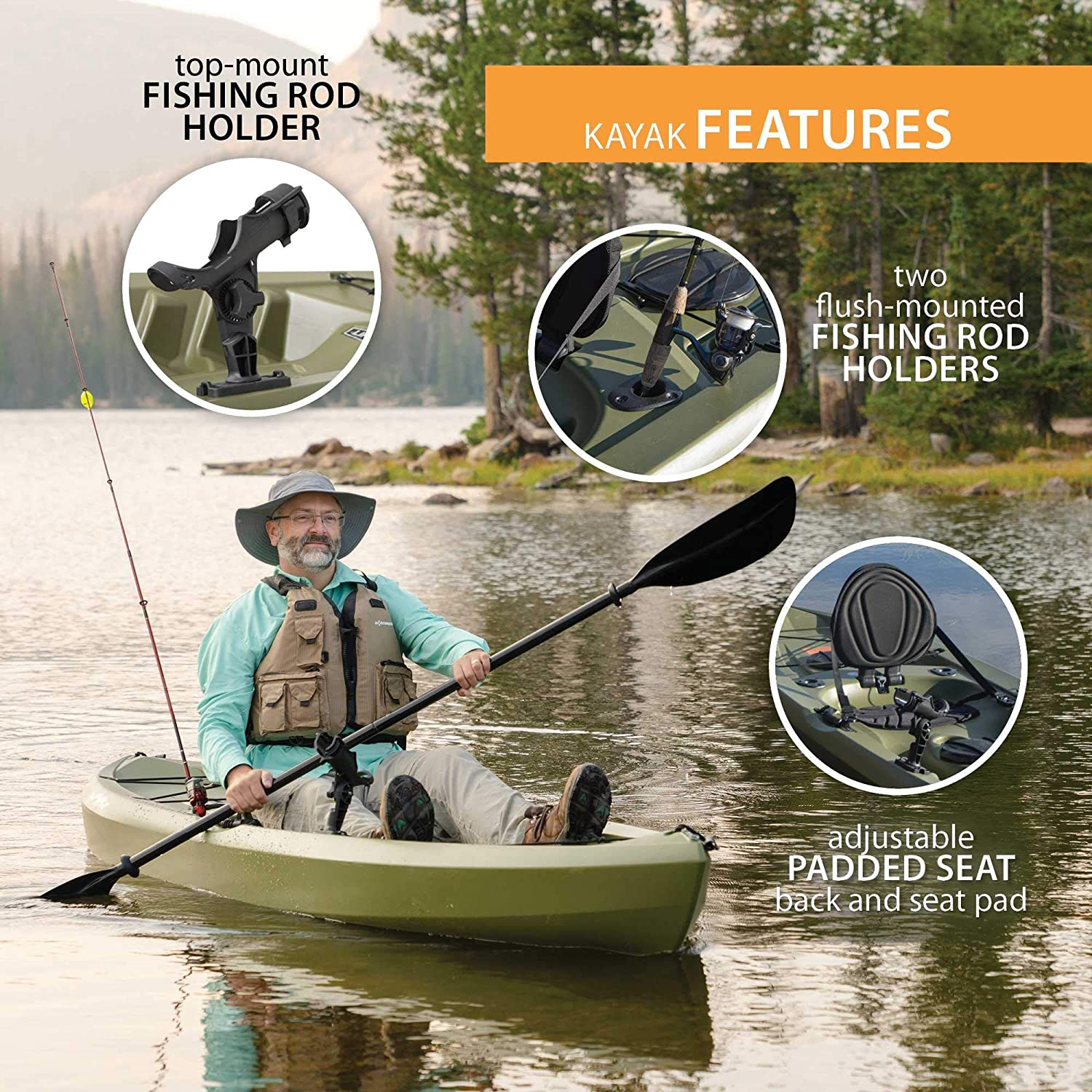 Lifetime Tamarack Angler Sit-On-Top Kayak 3