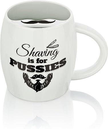 Barttasse Tasse mit Bartschutz Kaffeetasse Becher für Männer