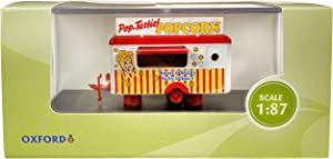 Oxford Diecast Mobile Food Trailer Popcorn 1/87 (HO) Scale Diecast Model 87TR016