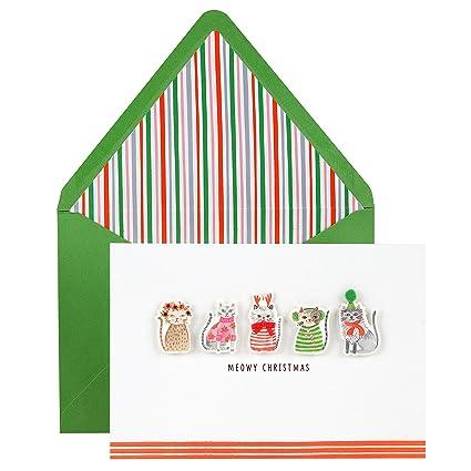 68cf559da413e0 Amazon.com  Hallmark Signature Christmas Card (Cute Cats)  Office ...