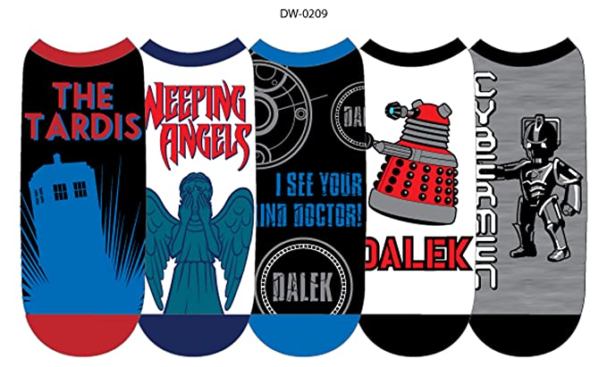 Doctor Dr Who Women's Ankle Socks – 5 Pair