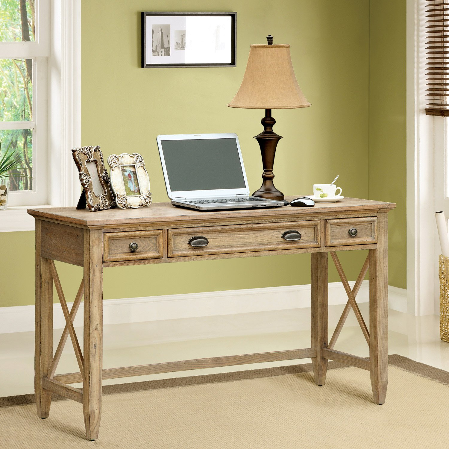 Amazon.com: Riverside Furniture Coventry Writing Desk In Weathered  Driftwood: Kitchen U0026 Dining