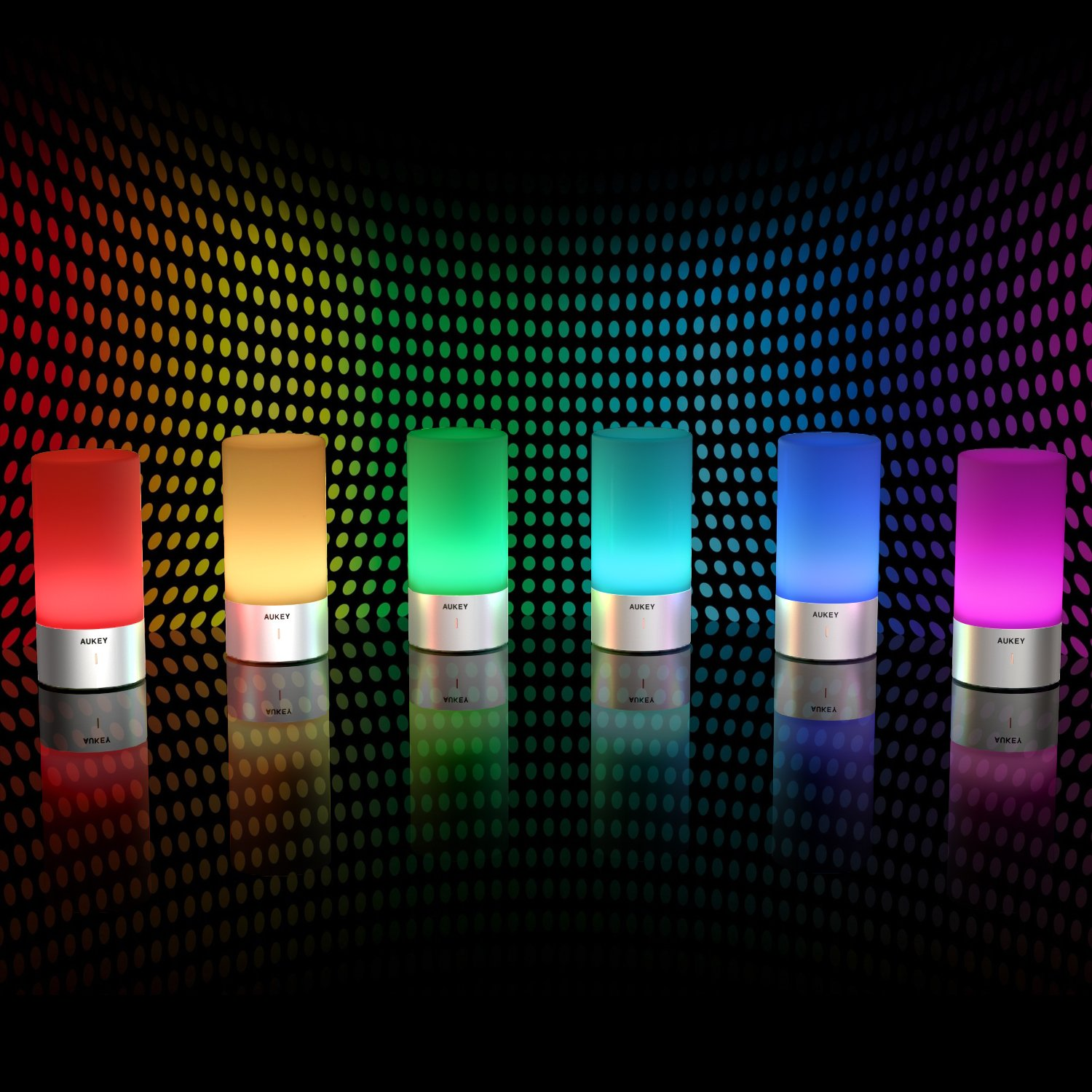 AUKEY Table Lamp, Touch Sensor Bedside Lamps + Dimmable Warm White Light & Color Changing RGB for Bedrooms by AUKEY (Image #4)