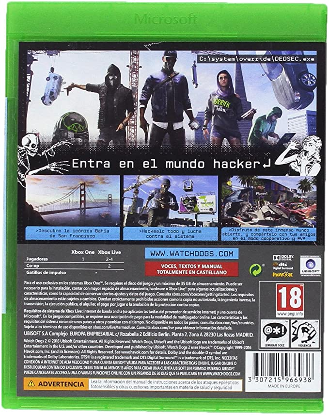 Watch Dogs 2 - Standard Edition: Amazon.es: Videojuegos