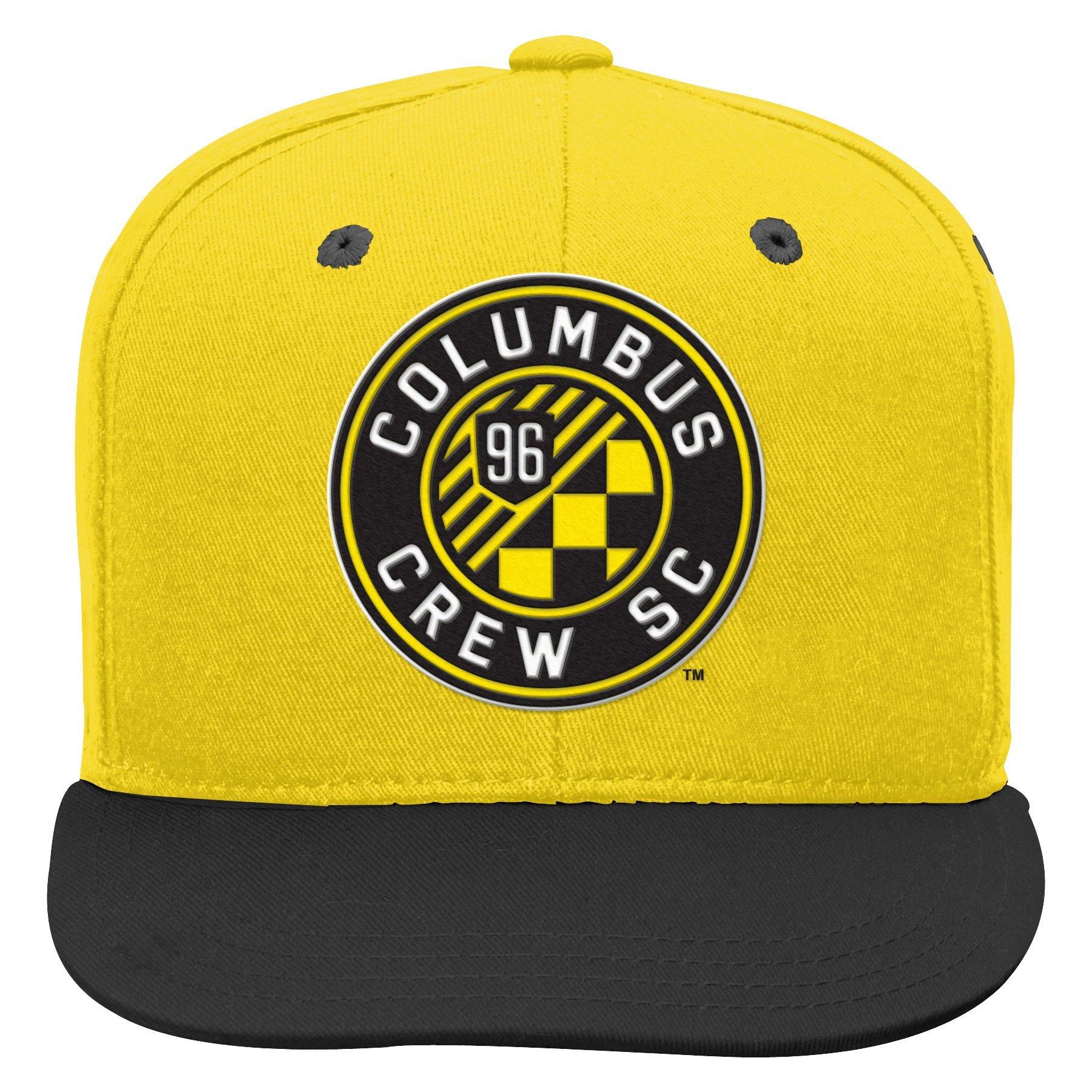 Outerstuff MLS Columbus Crew Boys Flat Visor Snapback, Sun, One Size