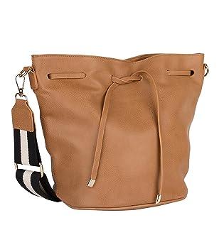 4fbf8d631f93c Damen Schultertasche Umhängetasche Handtasche Leder Optik Schwarz Weiss  Tasche Damentaschen