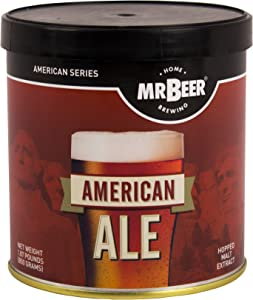Mr. Beer Ale 2 Gallon Homebrewing Refill, Red/Black