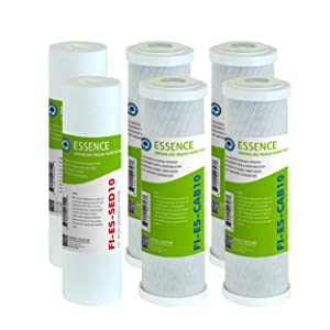 APEC Water Systems FILTER-SET-ESX2 2 Sets of High Capacity Replacement Pre-Filter Sets For Essence Series Reverse Osmosis Water Filter System Stage 1-3