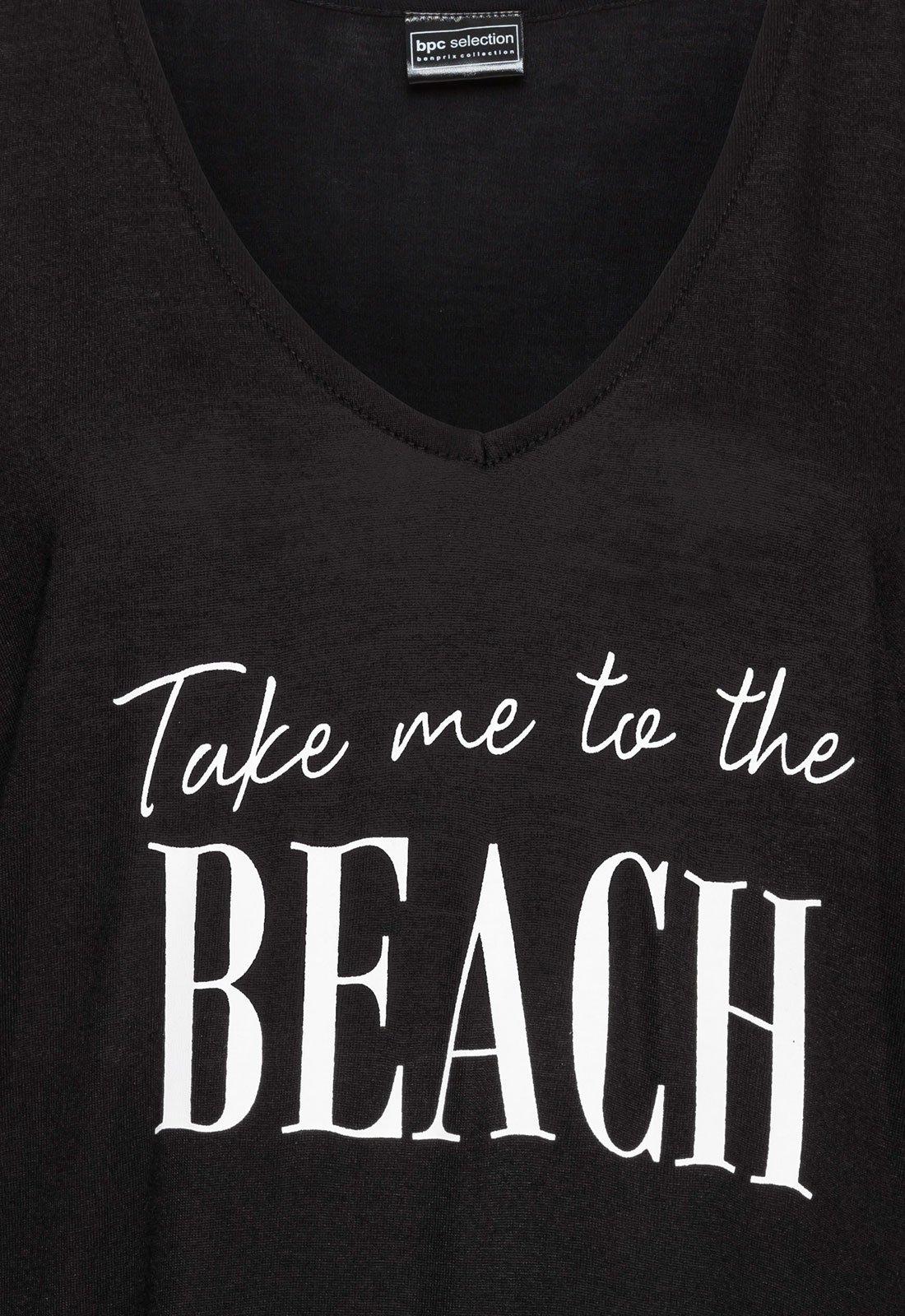 Rainlover Womens Letters Print Baggy Swimwear Bikini Cover-ups Beach Dress (BB-Black) by Rainlover (Image #4)
