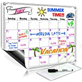 Smart Planner's Monthly Magnetic Refrigerator Calendar Dry Erase Board Monthly Planner Calendar for Kitchen Fridge With Free Magnetic Dry Erase Marker Included (White 16x11.75 Horizontal)