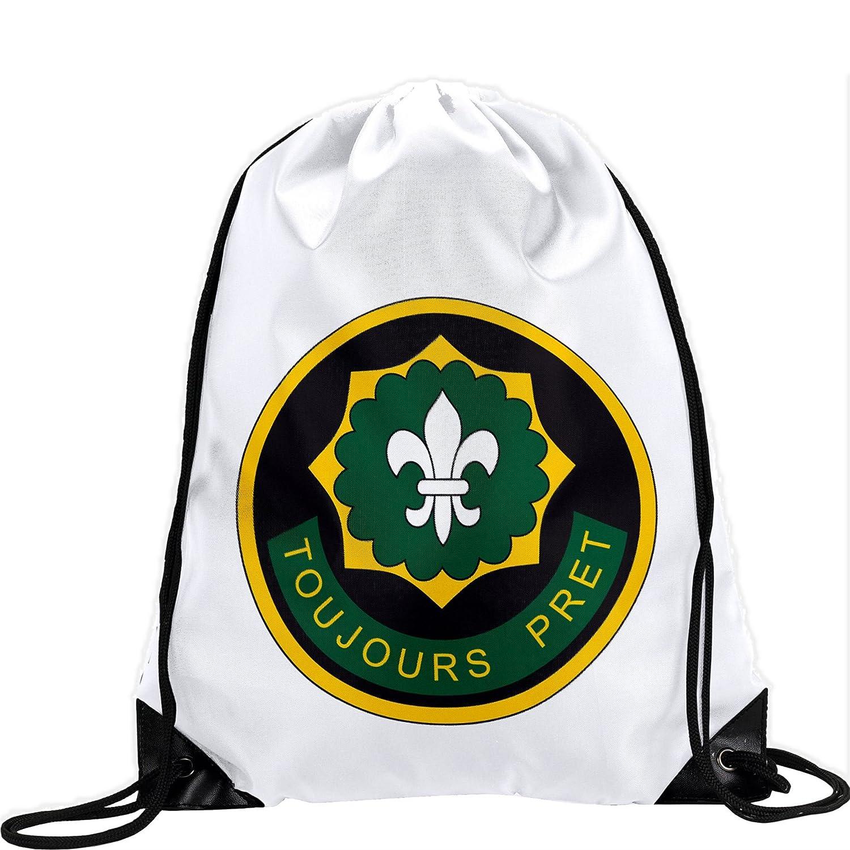 Large Drawstring bag with US Army 2 nd騎兵連隊、Shldrスリーブ – 長持ち鮮やかなイメージ B01AYF2RA6
