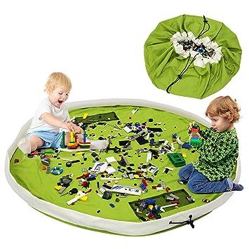 BELLESTYLE Kinderspielzeug-Aufbewahrungsbeutel, Baumwoll-Segeltuch-bewegliches großes einfaches aufgeräumtes Spiel u. Aufbewa