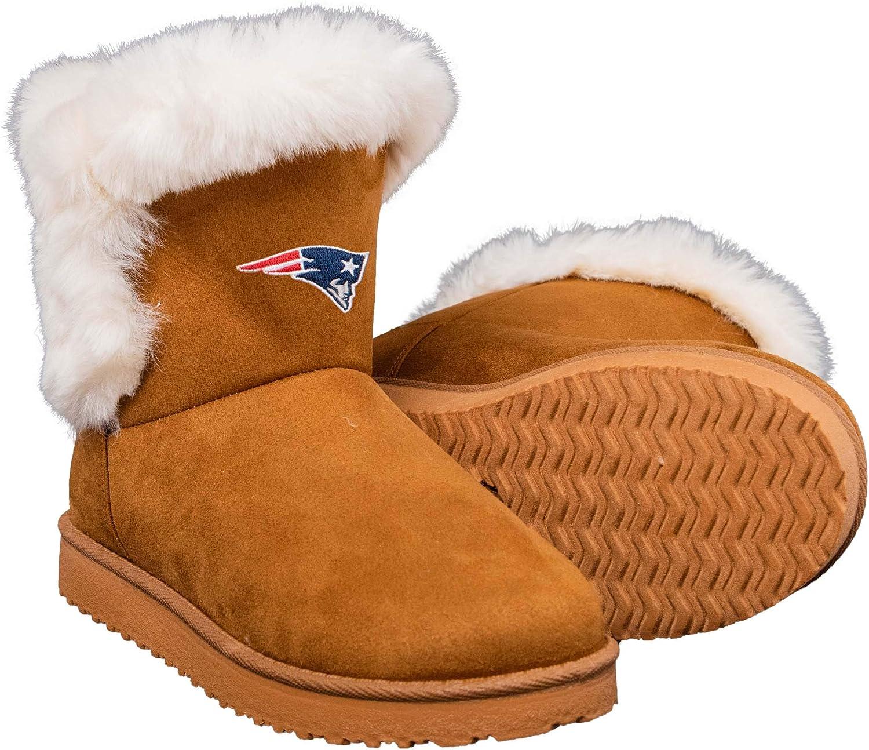 FOCO NFL Womens White Fur Boots