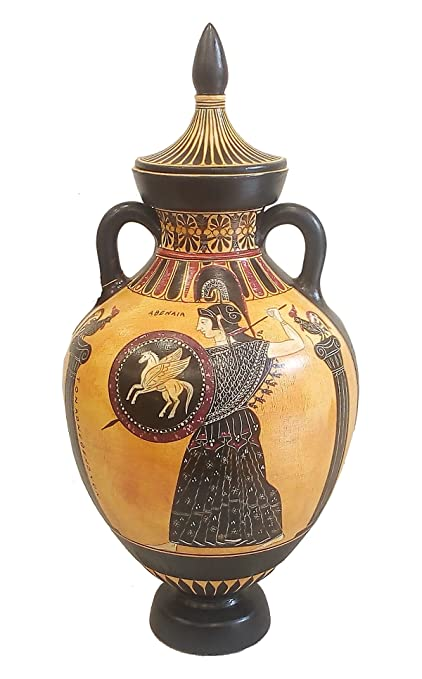 Amazon Panathenaic Amphora Vase Ancient Running Athenian