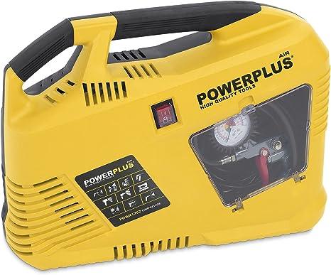 Powerplus Air Compressor Air Compressor 8 Bar Tyre Pressure Gun 1100 W Baumarkt