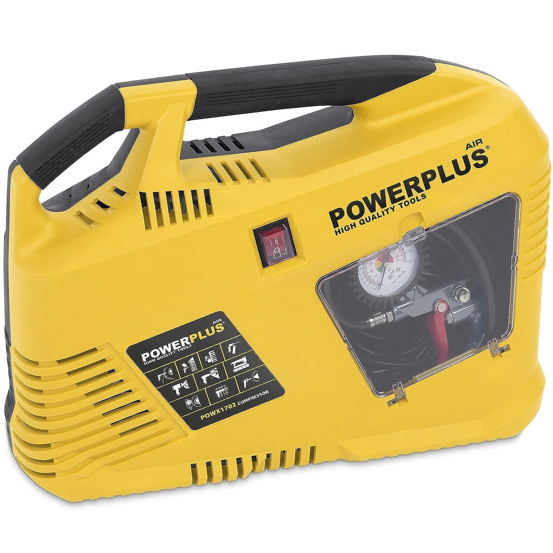 PowerPlus POWX1703 - Compresor 1100W + 8Pzs Sin Aceite: Amazon.es: Bricolaje y herramientas