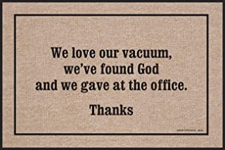 product image for We Love Our Vacuum, We've Found God Doormat