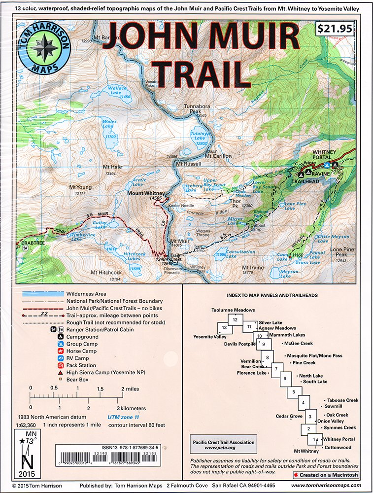 John Muir Trail Map-Pack