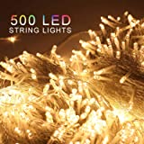 ZOIC 500 LED Christmas Wedding Party Fairy String Lights Lamp 100 Meters (328 feet) 8 Modes 31V Memory Function Warm…