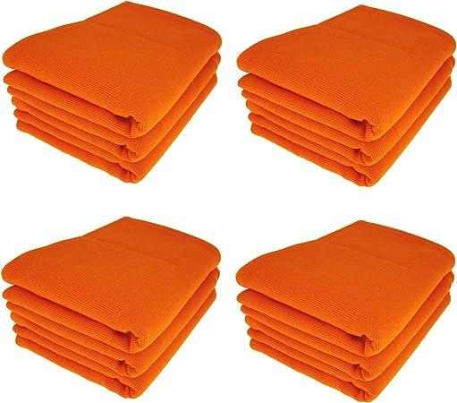 Daloual 12 x – Trapo/Paño de Cocina y Limpieza Gamuza de algodón 100% Naranja: Amazon.es: Hogar